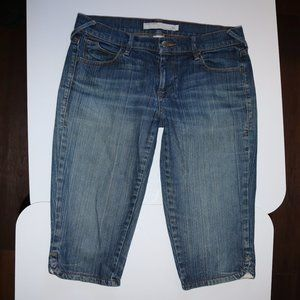Old Navy Low Rise Stretch Blue Jeans Cropped Bermu